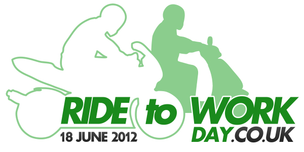 Ride to Work logo med to motorcykler