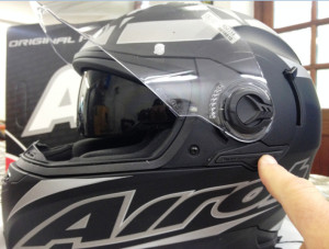 Airoh Motorcycle Helment and sunglasses