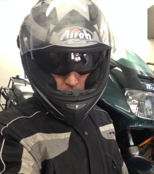 Airoh Motorcycle Helment and Honda VFR 750 F