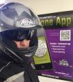 Airoh Motorcycle helmet and motorcyclist1