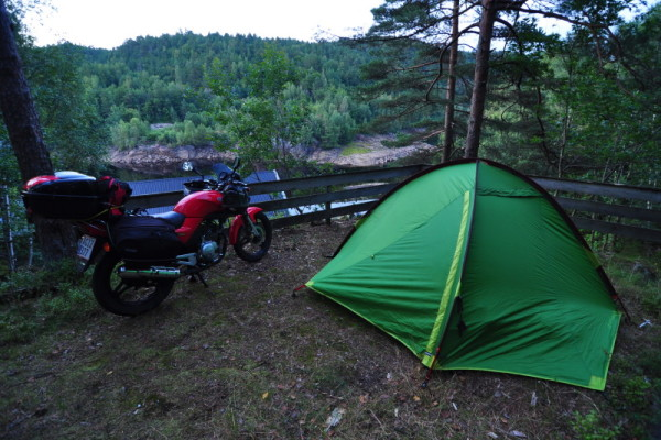 Free camping in beautiful surroundings