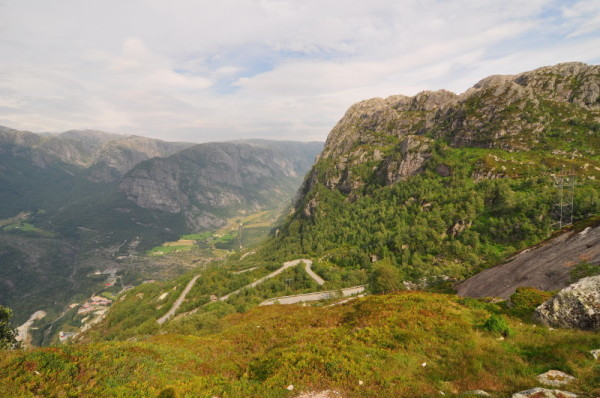 The exciting Lysebotn road
