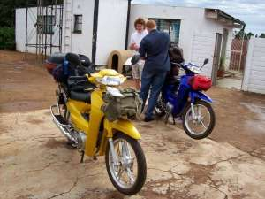 Packing chinese motorcycles in South Africa for motorcycle tour