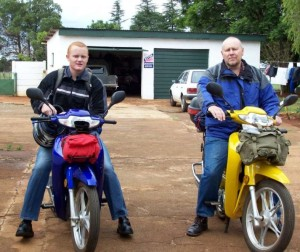 Packed and ready for a father/son motorcycle ride in South Africa
