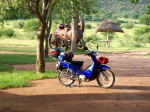 South Africa nature and motorcycle