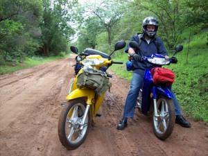 Motorcycles on the road near Ellisras