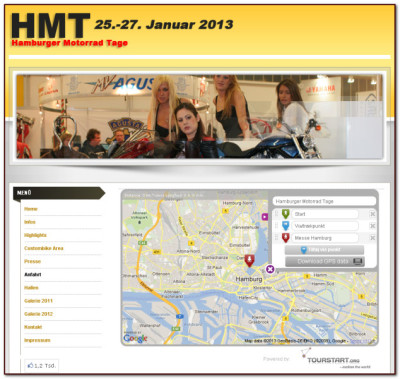 Plan the motorcycle route to Hamburger Motorrad Tage with Tourstart