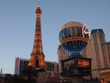Eifel tower and globe in Las Vegas