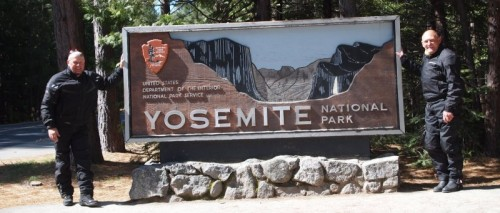 MC Venner ved Yosemite national park i motorcykel tøj