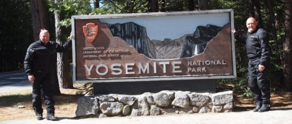 MC venner ved Yosemite National Park i USA
