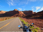 Scenic motorcycle road in USA