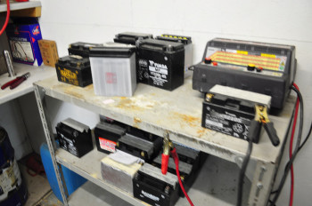 Motorcycle battery storage