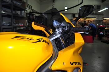 Honda VTR1000F before winter storage