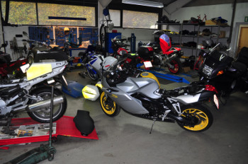 Motorcycle workshop and maintenance