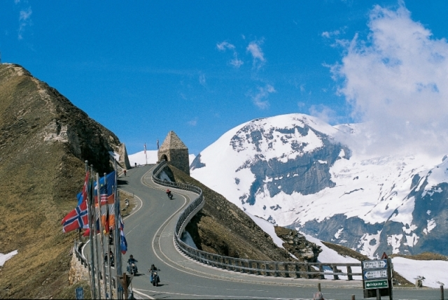 The curvy Alps ride on Motorcycle