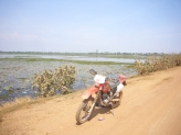 Dirt road from Phnom Penh