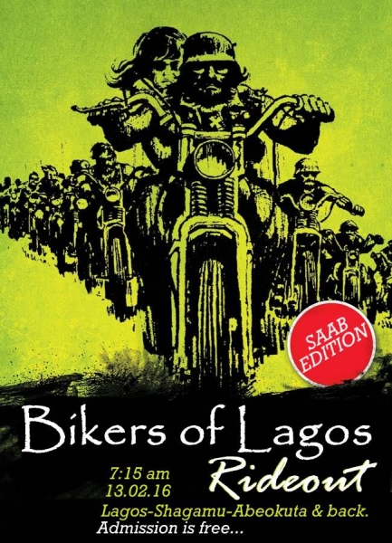 Tour Bikers Of Lagos Rideout: SAAB Edition. image