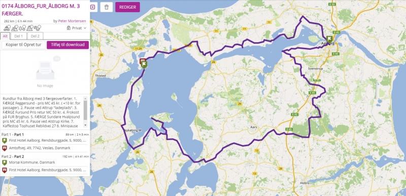 Tour 0174 Ålborg_FUR_Ålborg m. 3 Færger. image