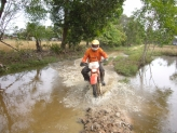 Crossing river near Kampot