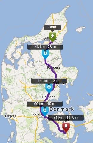 Tour Aalborg Egeskov via motorvej 2015 image