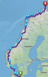 Tour Nordkap 2016 fra Farum image