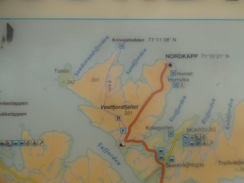 Tour Det nordligste punkt Knivskjellodden. image