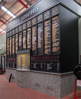 Train departures board