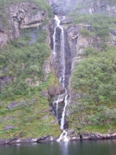 Waterfall at Lysefiord
