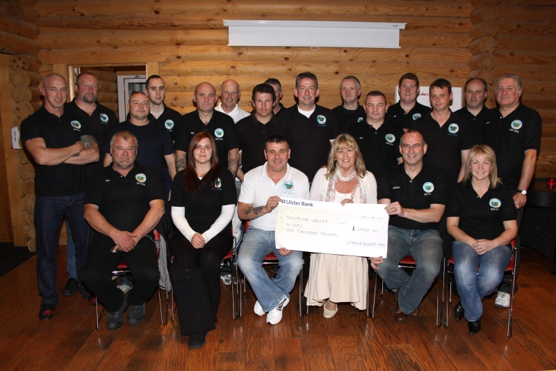 Club presenting charity cheque