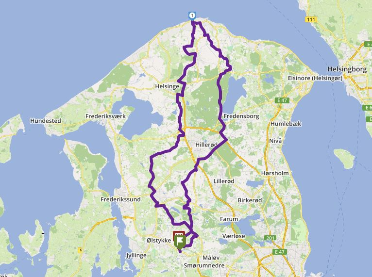 Tour 187_ Veksø - Smidstrup Cafe -  Kystgården - Veksø image