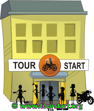 Tourstart web site for motorcycle tour, motorcycle event and route planning