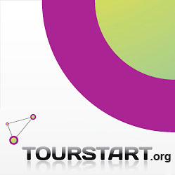 Tourstart logo with dot
