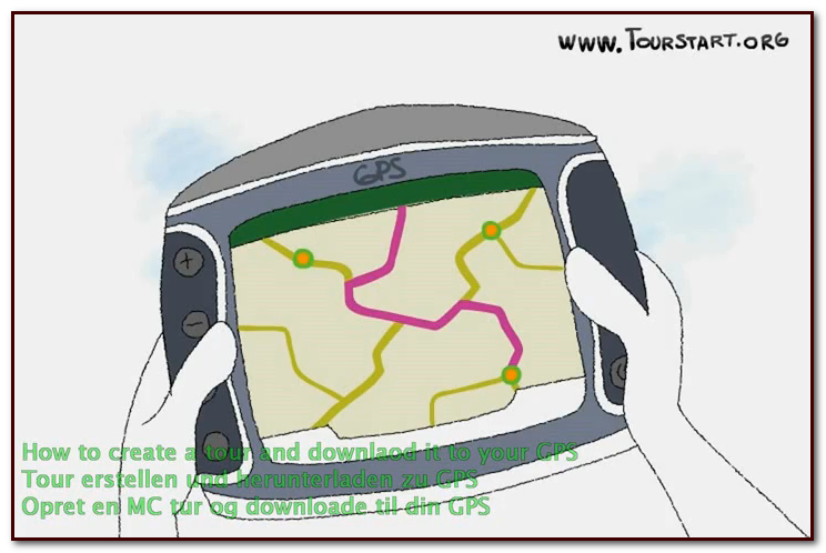 How to create a motorcycle tour and transfer to motorcycle gps