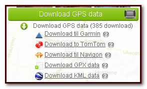 Download GPS data to motorcycle GPS