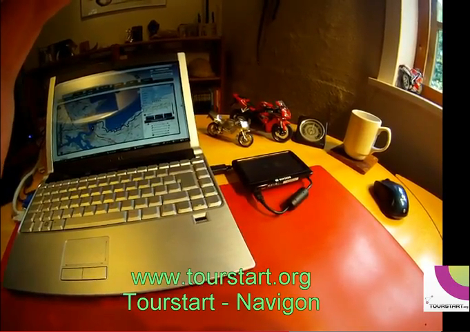 How to transfer motorcycle route to Navigon GPS