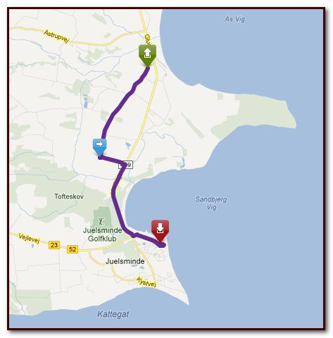 Motorcycle route plan on Tourstart