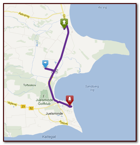 Motorcycle route plan on Tourstart ready for gps transfer