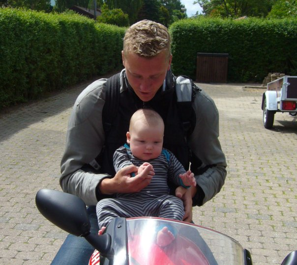 Mikael Jensen on yamaha motorcycle get inspiration for motorcycle event via Tourstart iPhone app