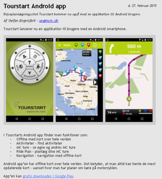 Motorcycle Android App With Rideplanner And Navigation
